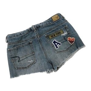 AMERICAN EAGLE NY Patch Distressed Denim S…
